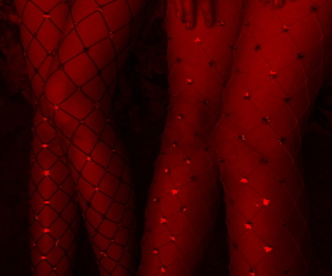 fishnets and red image