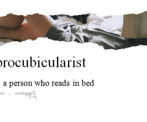 reading, bed, and book image