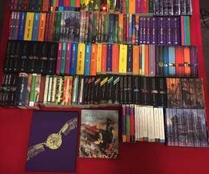 books, colors, and harry potter image