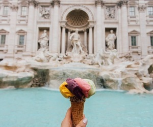 travel, italy, and ice cream image