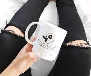 clothes, coffee, and cup image