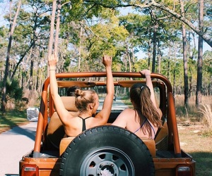 bff, jeep, and Road Trip image