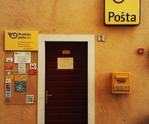 places, post office, and yellow image
