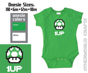 1Up, etsy, and baby onesie image