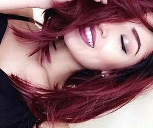 hair, redhair, and red image