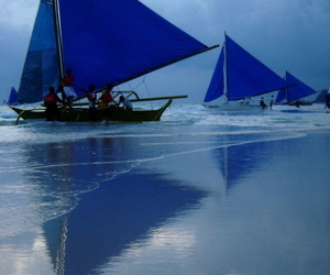 blue, ocean, and sailing image