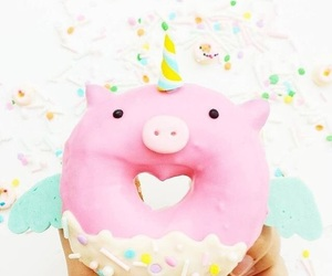 donuts, food, and pig image