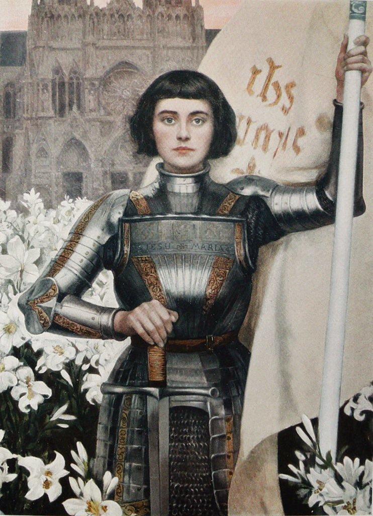 art, joan of arc, and woman image