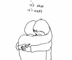 quotes, hug, and sad image