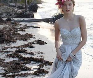 beach wedding dress, lace wedding dress, and casual wedding dresses image