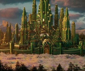 castle, Oz, and emerald city image