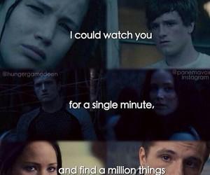 katniss, peeta, and love image