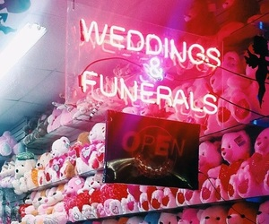 bears, funeral, and neon image