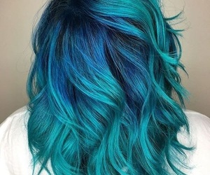 blue, blue hair, and bluehair image