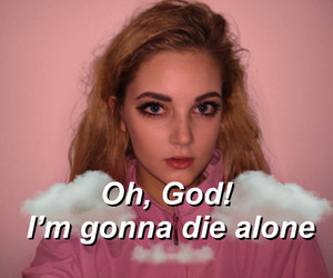 aesthetic, Lyrics, and clouds image