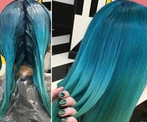 bluehair, hair, and pastel image