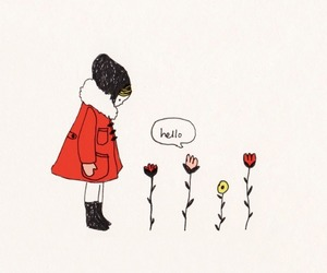 communication, flower, and girl image