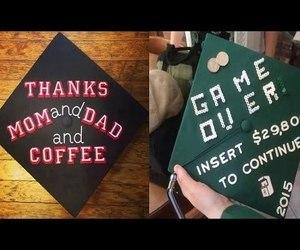 video and graduation cap image