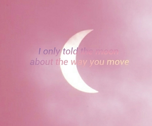 love songs, moon, and pink image
