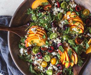 dressing, food, and salad image