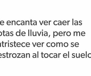 frases, triste, and lluvia image