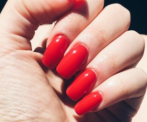 nails, rednails, and gelnails image