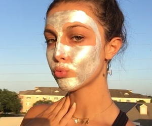 face, face mask, and glow image