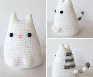 amigurumi, cat, and crochet image
