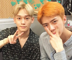Chen, exo, and header image