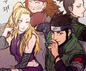 naruto, ino, and shikamaru image