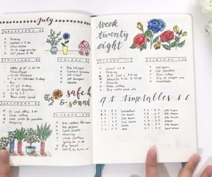 flower, note, and notebook image