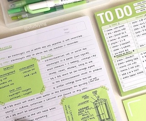 green, supplies, and inspiration image