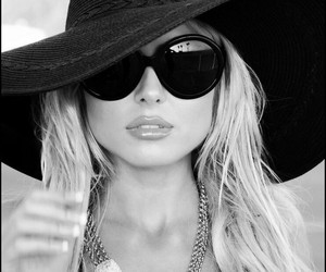 hat, stylé, and sunglasses image