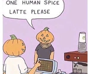 pumpkin, funny, and fall image