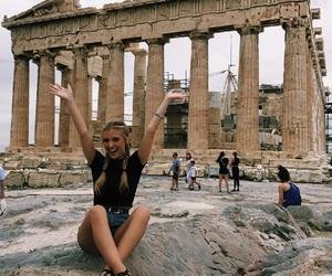 acropolis, Athens, and girl image
