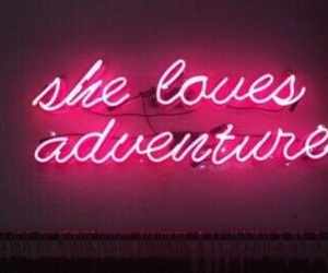 neon, adventure, and pink image