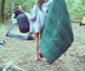 bag, camping, and candid image