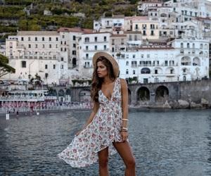 Amalfi coast, girl, and inspiration image