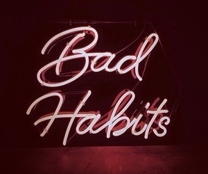 aesthetic, lights, and bad habits image