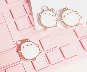 pink, molang, and cute image