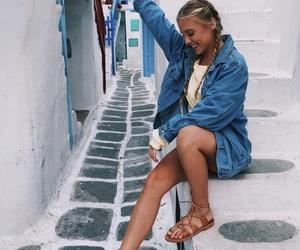 girl, Greece, and inspiration image