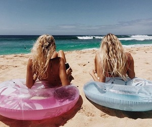 beach, blonde, and fabulous image