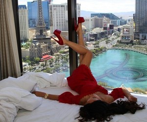 girl, red, and luxury image