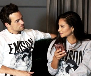 pretty little liars, shay mitchell, and ezra fitz image