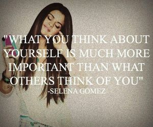 selena gomez, quote, and yourself image