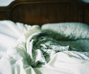 bed, photography, and pillow image