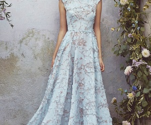 dress, floral, and gown image