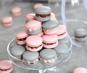 sweet, pink, and macarons image