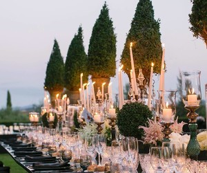 candles, flowers, and garden image