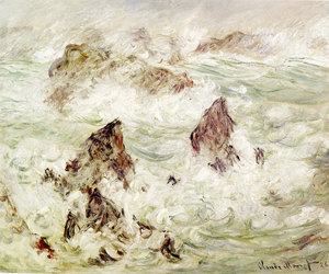 art, claude monet, and painting image